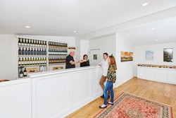 Peter de Cuyper and Liz Hatherley at Fraser Gallop Estate Cellar Door